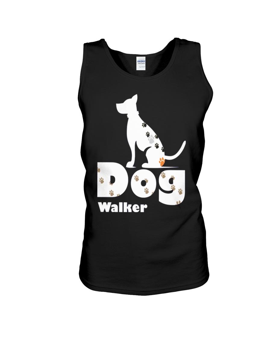Dog Walker T Shirt for Dog Lover Unisex Tank