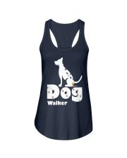 Dog Walker T Shirt for Dog Lover Ladies Flowy Tank front