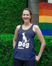 Dog Walker T Shirt for Dog Lover Ladies Flowy Tank lifestyle-bellaflowy-tank-front-2