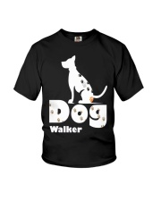 Dog Walker T Shirt for Dog Lover Youth T-Shirt thumbnail