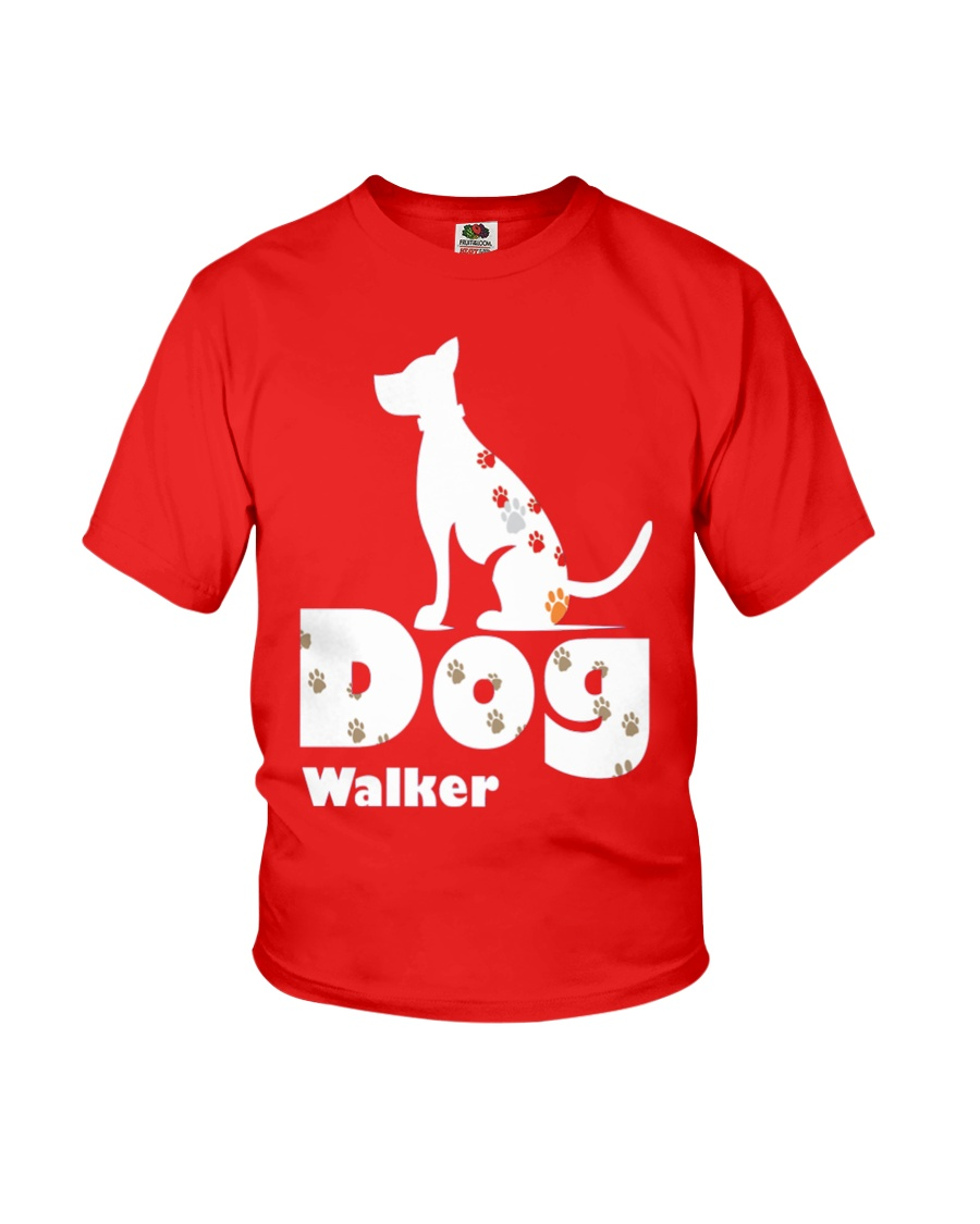 Dog Walker T Shirt for Dog Lover Youth T-Shirt