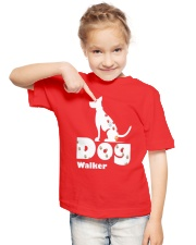 Dog Walker T Shirt for Dog Lover Youth T-Shirt lifestyle-youth-tshirt-front-2