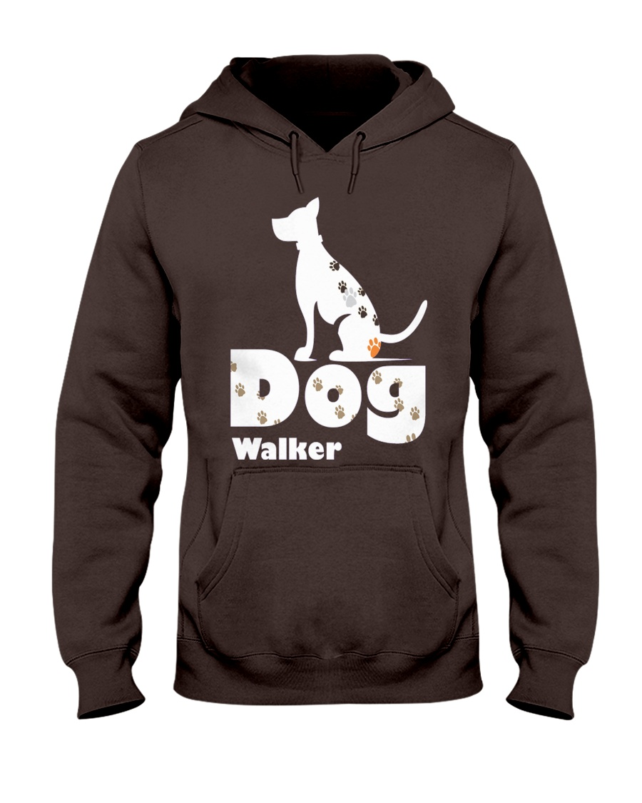 Dog Walker T Shirt for Dog Lover Hooded Sweatshirt