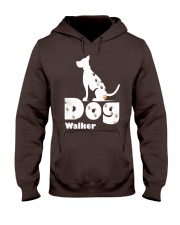 Dog Walker T Shirt for Dog Lover Hooded Sweatshirt front