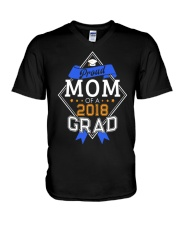 PROUD MOM OF A 2018 GRADUATE GRADUATION V-Neck T-Shirt tile