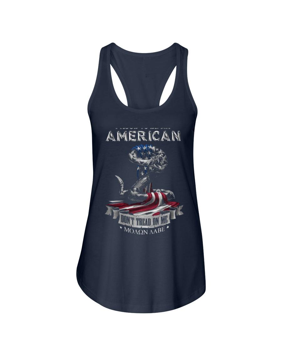 PATRIOTIC- PROUD TO BE AN AMERICAN 0001 Ladies Flowy Tank