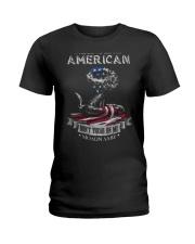PATRIOTIC- PROUD TO BE AN AMERICAN 0001 Ladies T-Shirt thumbnail