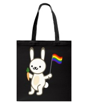 Rabbit Bunny LGBT Pride Flag Easter Shirt Tote Bag thumbnail