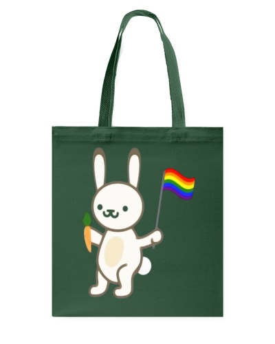 Rabbit Bunny LGBT Pride Flag Easter Shirt