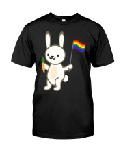 Rabbit Bunny LGBT Pride Flag Easter Shirt Classic T-Shirt front