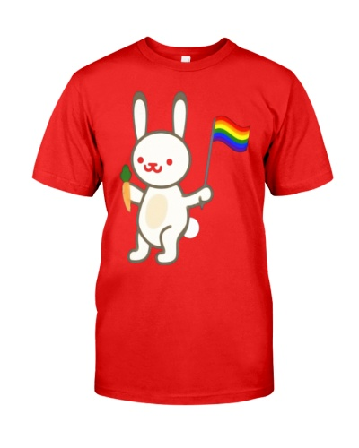 Rabbit Bunny LGBT Pride Flag Easter Shirt