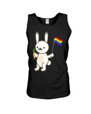 Rabbit Bunny LGBT Pride Flag Easter Shirt Unisex Tank thumbnail