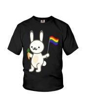 Rabbit Bunny LGBT Pride Flag Easter Shirt Youth T-Shirt thumbnail
