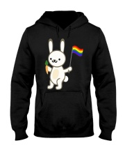 Rabbit Bunny LGBT Pride Flag Easter Shirt Hooded Sweatshirt thumbnail
