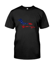 Patriotic Dachshund Classic T-Shirt front