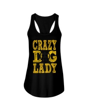 crazy dog lady limited edition Ladies Flowy Tank thumbnail