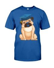 Pug Graduation Cap 2 Classic T-Shirt front