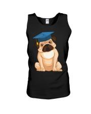 Pug Graduation Cap 2 Unisex Tank thumbnail