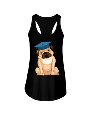 Pug Graduation Cap 2 Ladies Flowy Tank thumbnail