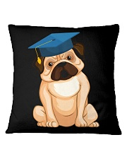 Pug Graduation Cap 2 Square Pillowcase thumbnail