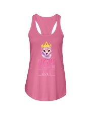 July Queens Cat Are Born In  Ladies Flowy Tank front