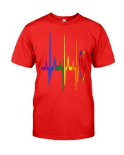 LGBT Heartbeat LGBT Pride Classic T-Shirt front