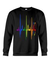 LGBT Heartbeat LGBT Pride Crewneck Sweatshirt thumbnail