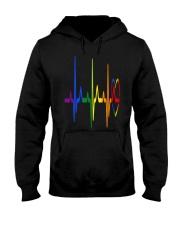 LGBT Heartbeat LGBT Pride Hooded Sweatshirt thumbnail