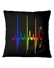 LGBT Heartbeat LGBT Pride Square Pillowcase thumbnail