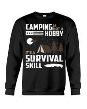 Camping - Camping Is Survival Skill Crewneck Sweatshirt thumbnail