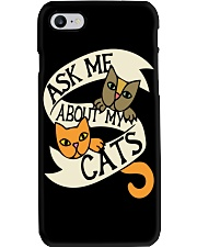 Ask me about my cats Phone Case thumbnail