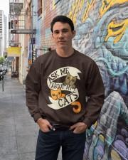 Ask me about my cats Crewneck Sweatshirt lifestyle-unisex-sweatshirt-front-2