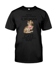 A Woman Loves Cats Born In May T-Shirt Classic T-Shirt tile