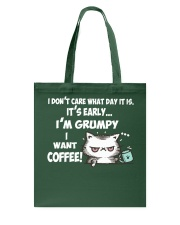 I'm Grumpy I Want Coffee Grumpy Coffee Cat Tote Bag thumbnail