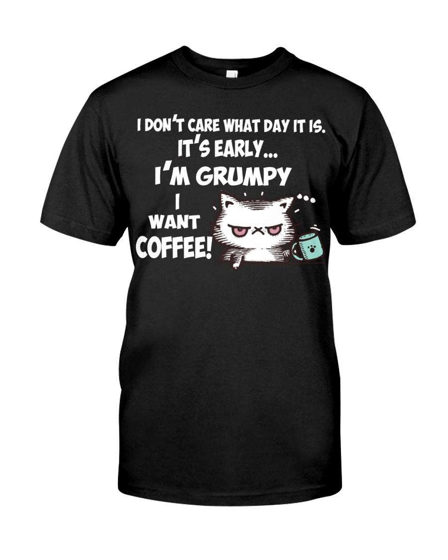 I'm Grumpy I Want Coffee Grumpy Coffee Cat Classic T-Shirt