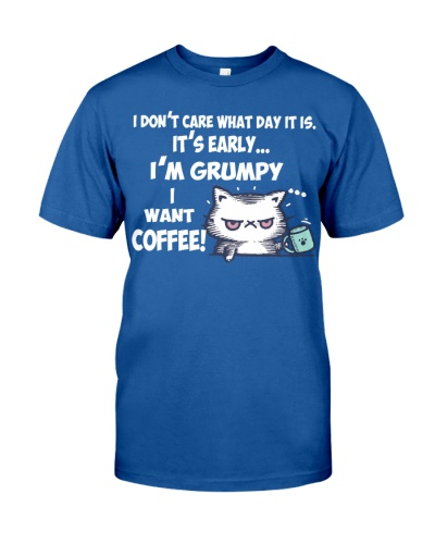 I'm Grumpy I Want Coffee Grumpy Coffee Cat
