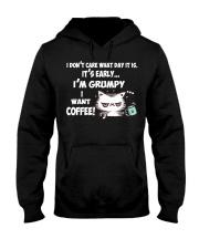 I'm Grumpy I Want Coffee Grumpy Coffee Cat Hooded Sweatshirt thumbnail