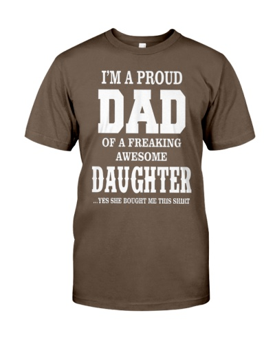 Daughter T-shirt Fathers day gift