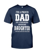Daughter T-shirt Fathers day gift Classic T-Shirt front