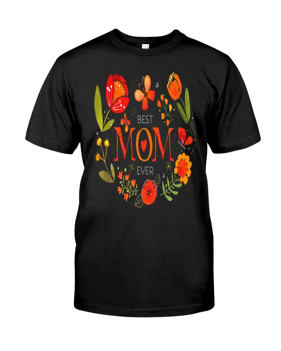 Mothers Day Butterflies and Flowers Classic T-Shirt