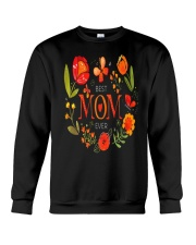 Mothers Day Butterflies and Flowers Crewneck Sweatshirt thumbnail