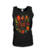 Mothers Day Butterflies and Flowers Unisex Tank tile