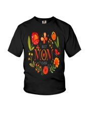 Mothers Day Butterflies and Flowers Youth T-Shirt tile