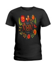 Mothers Day Butterflies and Flowers Ladies T-Shirt tile