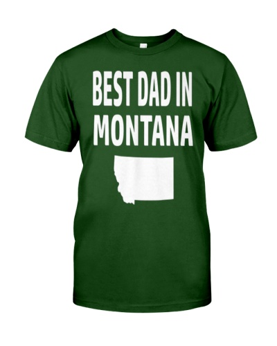 Best Dad in Montana  Fathers Day Gift