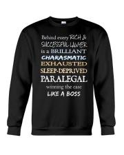 Paralegals Like a Boss Crewneck Sweatshirt thumbnail