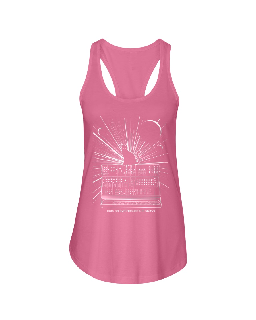 Cat Synthetizer Shirt  Ladies Flowy Tank