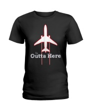 Im Outta Here Great Graduation Shirt Ladies T-Shirt thumbnail