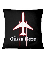 Im Outta Here Great Graduation Shirt Square Pillowcase thumbnail