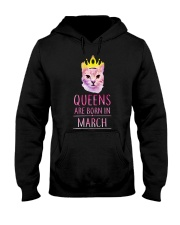 March Queens Cat Are Born In  Hooded Sweatshirt thumbnail